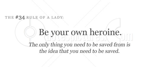 Be your own heroine - Quote Picture for fb