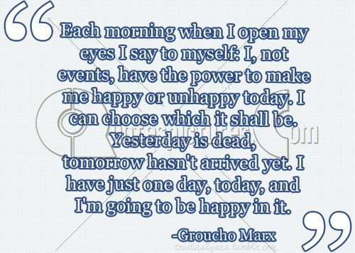 I am going to be happy : Quote Picture