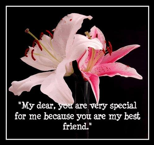 You are special because you are my best friend