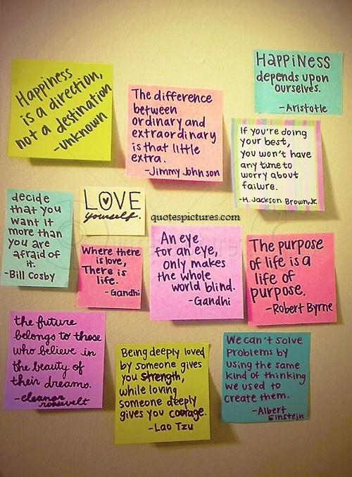 Happiness is a direction : Love yourself