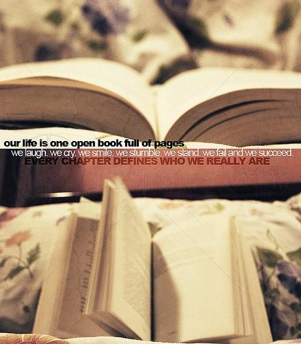 Our life is one open book full of pages
