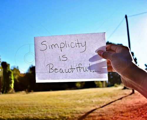Simplicity is beautiful - Quote Picture for f Share