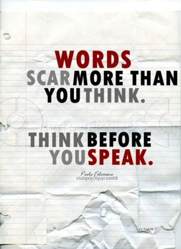 Words scar more than you think