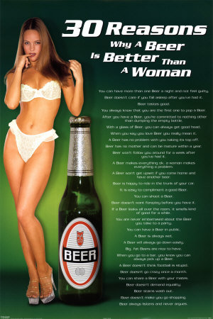 30 Reasons Why A Beer Is Better than A Woman