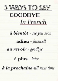 5 Way To Say Good Bye In French