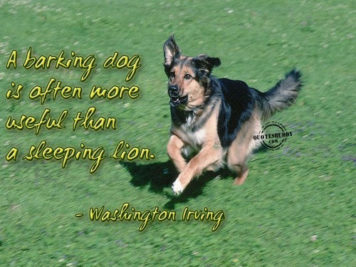 A Barking Day Is Often More Useful than Sleeping Lion