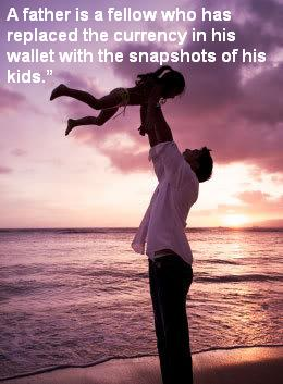 A father is a fellow who has replaced the currency in his wallet with the snapshots of his kids ~ Father Quote
