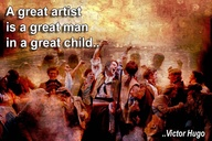 A Great Artist is a great man in a great child ~ Art Quote