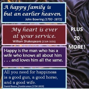 A Happy Family is but an earlier heaven Anniversary Quote
