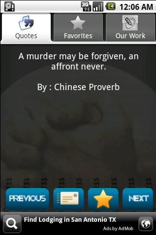 A Murder May be Forgiven,an affront Never ~ Forgiveness Quote