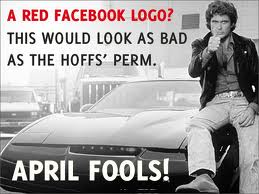 A Red Facebook Logo! ~ April Fool Quote