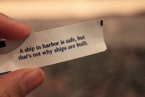 A Ship In Harbor Is Safe,but that's Not Why ships are built ~ Astrology Quote