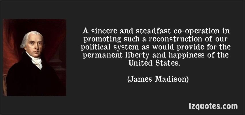 A sincere and steadfast co operation in promoting such a reconstruction of our Political System ~ Democracy Quote