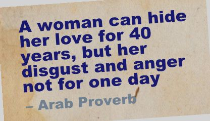 A Woman Can Hide Her Love For  Yearsbut Her Disgust And Anger Not