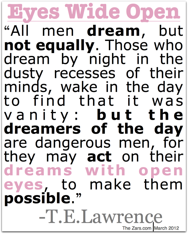 All Men Dream,but Not Equally ~ Dreaming Quote