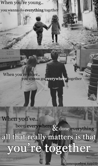 all that really matters is you re together being in love