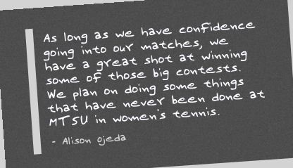 As long as we have confidence going into our matches ~ Confidence Quote