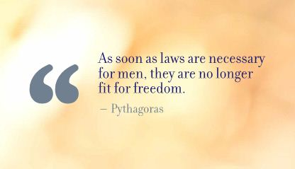 As Soon as laws are Necessary for Men,they are no longer fit for Freedom ~ Freedom Quote