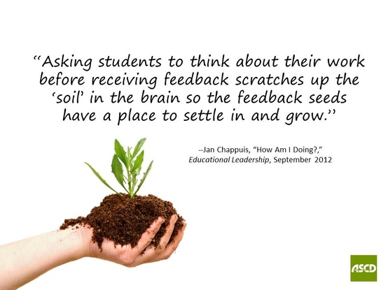 Asking Student tothink about their Work before receiving feedback ~ Education Quote