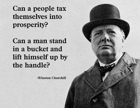 Can a People tax themselves Into Prosperity! ~ Democracy Quote