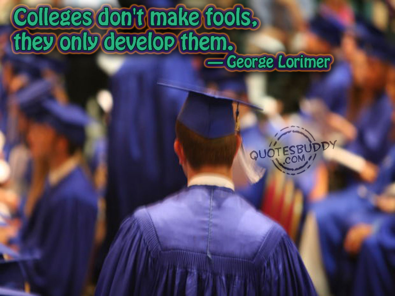 Colleges Don't Make Fools,They Only Develop them ~ April Fool Quote