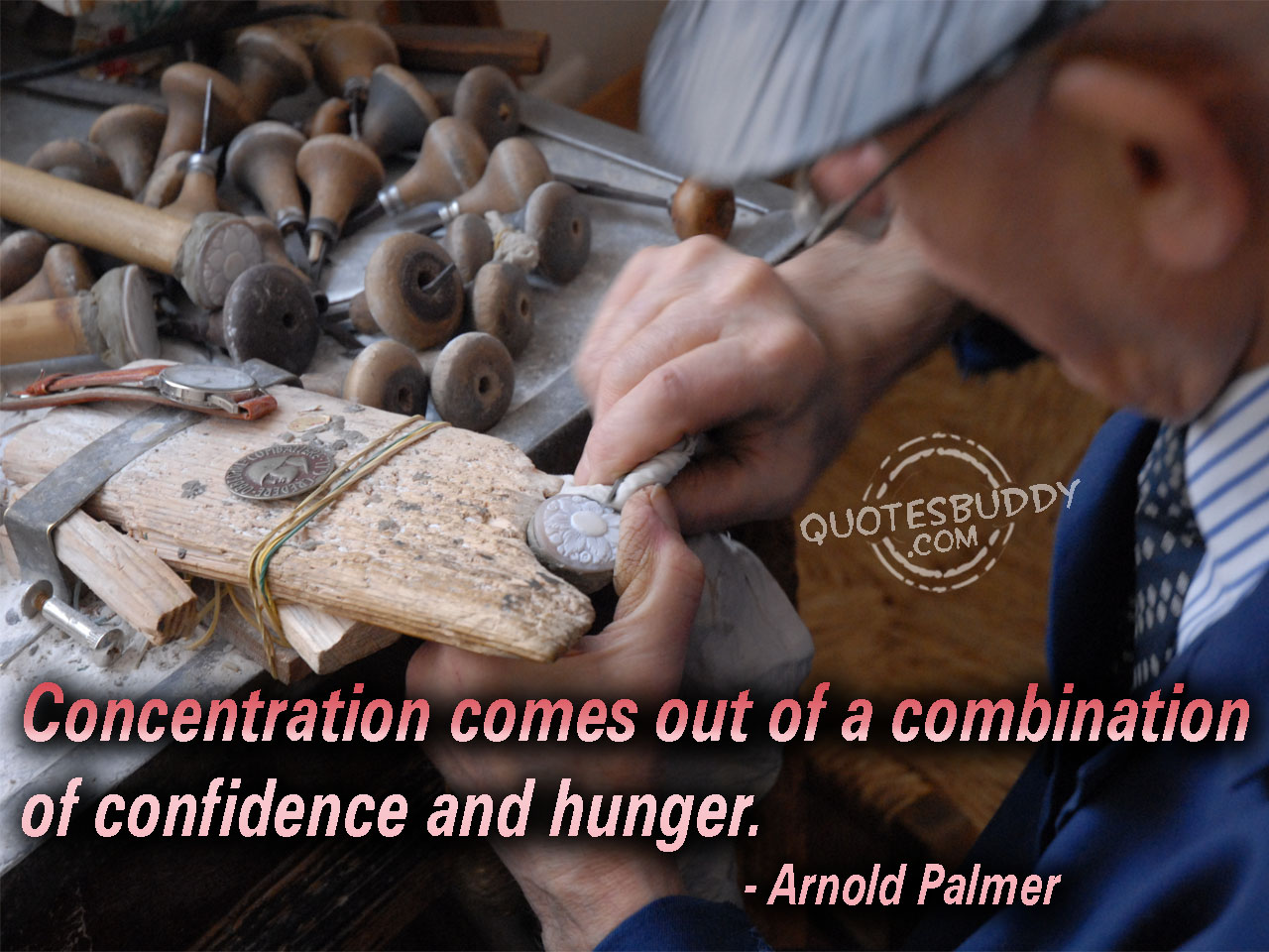 Concentration Comes Out of a Combination of Confidence and Hunger ~ Confidence Quote
