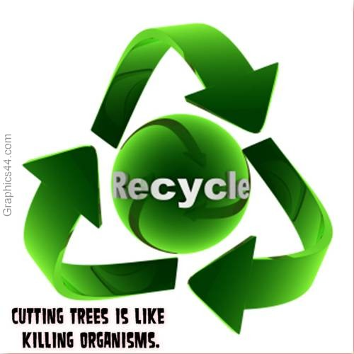 Cutting trees is like killing organisms Quote Graphic ~ Environment Quote
