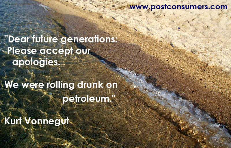 Dear Future Generations,Please accept our apologies ~  Environment Quote