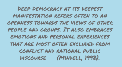 Deep Democracy at Its Deepest Manifestation Refers often to an openness towards ~ Democracy Quote