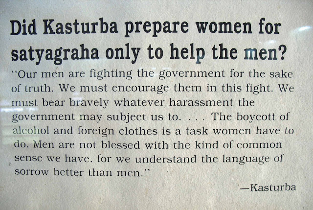 Did Kasturba women for satyagraha only to help the men! ~ Democracy Quote