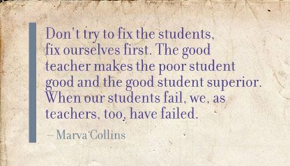 Don't try fix the students ~ Education Quote