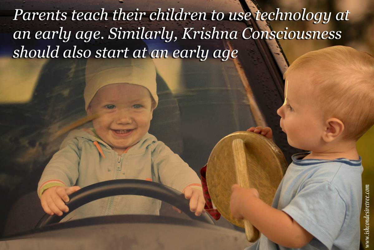 Driving Quote by Srila Prabhupada on Starting Krishna Consciousness at an Early Age