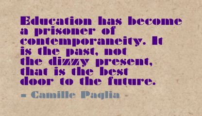 Education has become a Prisoner of Contemporaneity ~ Education Quote