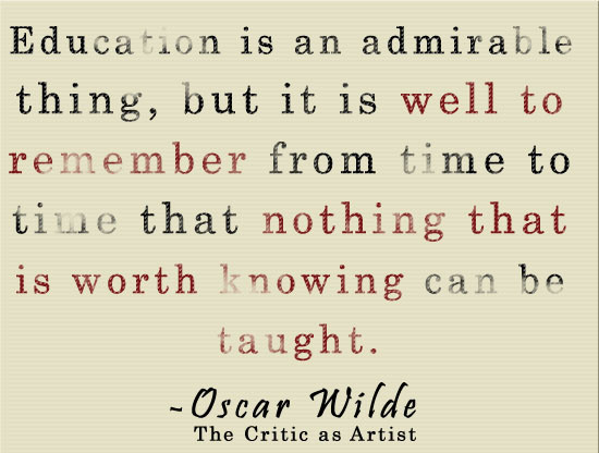 Education Is an Admireble thing ~ Education Quote