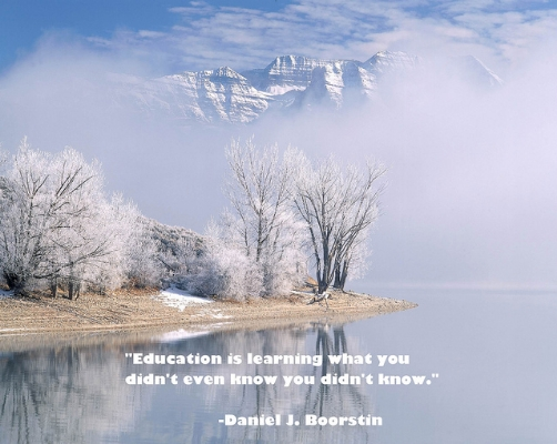 Education Is Learning what you didn't even know you didn't know ~ Education Quote