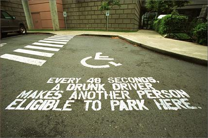 Every 40 Seconds A drunk Driver  Makes Another Person Eligible To Park Here ~ Driving Quotes
