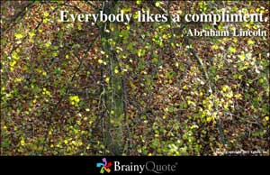 Everybody Likes a Compliment ~ Democracy Quote