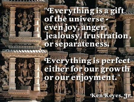 Everything is a Gift of the Universe ~ Anger Quote