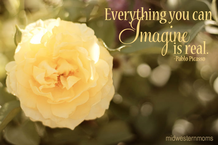Everything You Can Imagine Is Real Flowers Quote