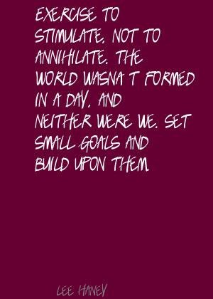 Exercise to stimulate,not to annihilate ~ Exercise Quote