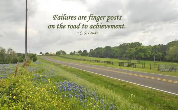 Failure Are Finger Posts ~ Failure Quote