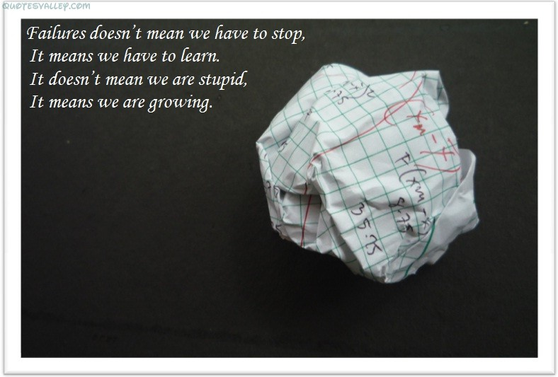 Failure Doesn't Mean We Have To Stop ~ Failure Quote