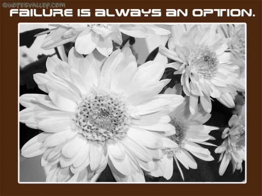 Failure Is Always An Option ~ Failure Quote