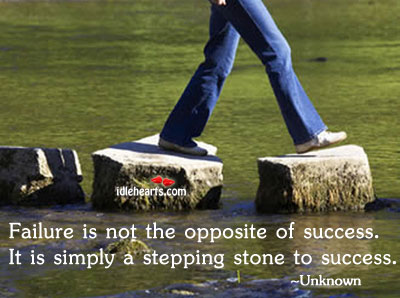 failures are stepping stones to success Speech on failures are stepping stone to success  many think failure as the opposite of success but failures are in fact the stepping stones of success.