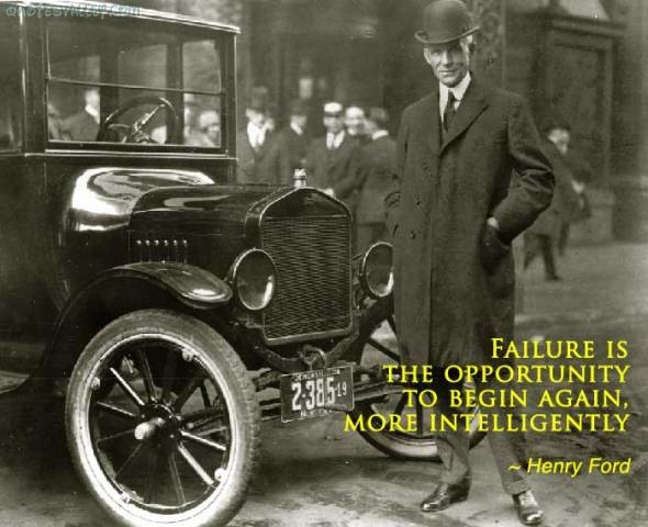 Failure Is Simply The Opportunity To Begin Again,More Intelligently ~ Failure Quote