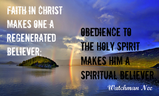 Faith In Christ Makes One A Regenerated Believer ~ Faith Quote