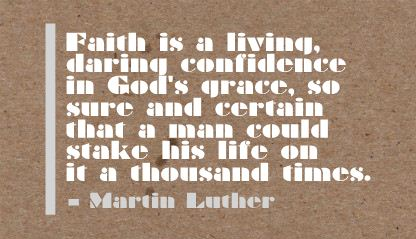 Faith Is a Living ~ Confidence Quote