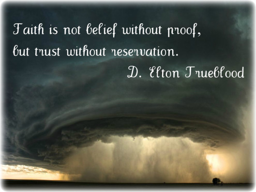 Faith is not belief without proof but trust without reservation ~ Faith Quote