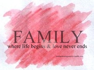 Family Where Life Begins Love Never Ends Family Quote