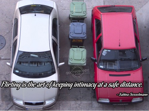 Flirting Is the Art of Keeping Intimacy at a safe distance ~ Flirt  Quote